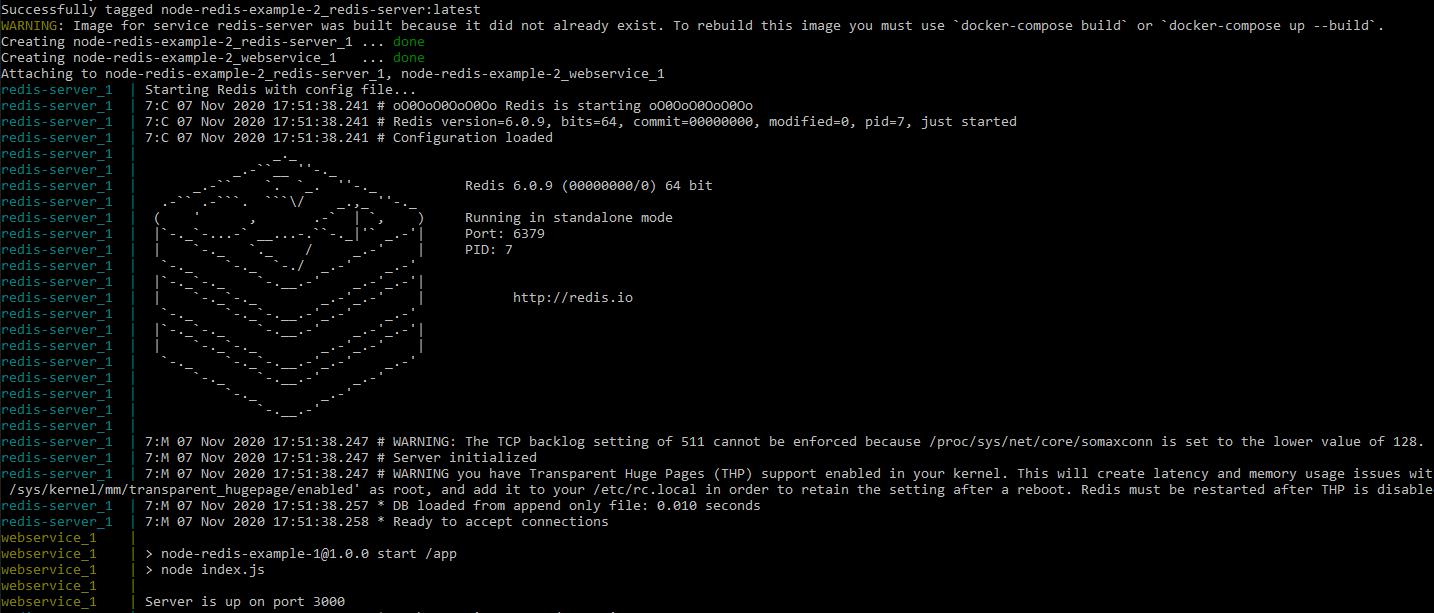 Docker Compose Redis shell